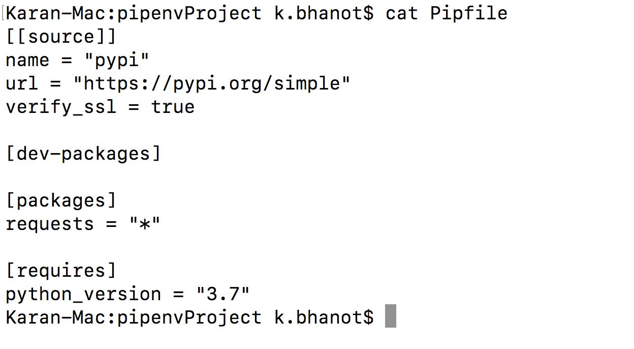 فایل Pipfile