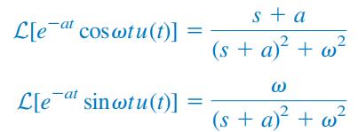 تبدی لاپلاس توابع سینوسی و کسینوسی
