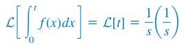 انتگرال زمانی برای تابع پله واحد