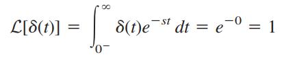 تبدیل لاپلاس تابع ضربه