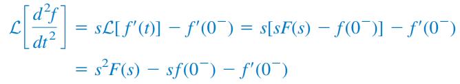 تبدیل لاپلاس مشتق دوم تابع