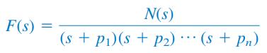 تبدیل لاپلاس معکوس برای قطب ساده