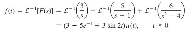 مثال تبدیل لاپلاس