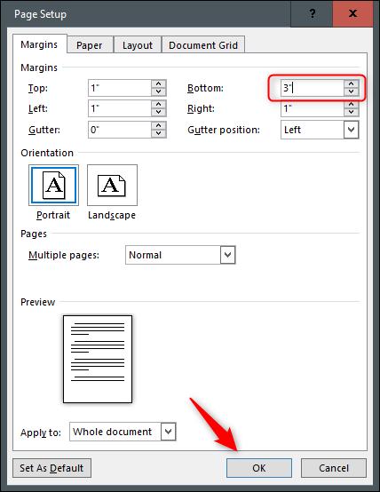 طراحی تراکت با پاورقی قابل برش در Word
