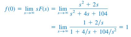 تبدیل لاپلاس و مقدار اولیه و نهایی