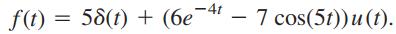 مثالی از تبدیل لاپلاس معکوس