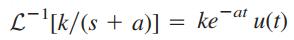 تبدیل لاپلاس تابع کسری