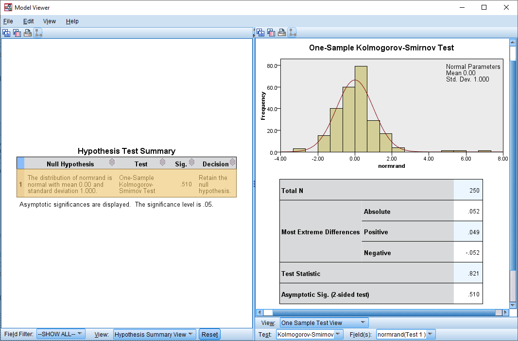 normality with mean zero and standard deviation 1