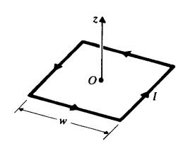 یک حلقه مربعی حامل جریان