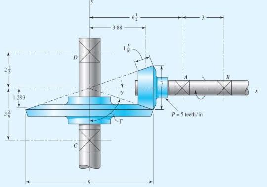 مثال حل شده چرخ دنده مخروطی