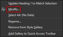 تغییر استایلهای پیشفرض سرتیتر در نرمافزار Word