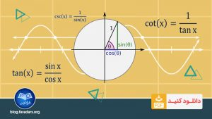 تقلب نامه (Cheat Sheet) مقادیر و فرمول های مثلثاتی