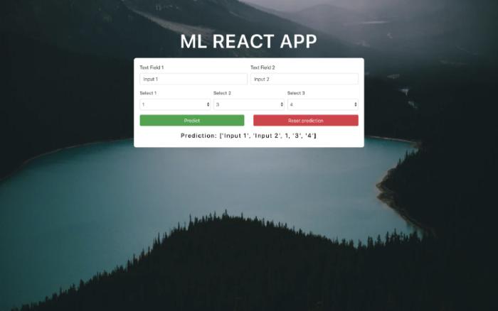 ساخت اپلیکیشن وب یادگیری ماشین