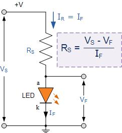 مدار مقاومت سری LED