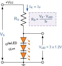 اتصال سری LEDها