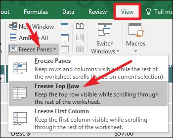 Freeze کردن در Excel