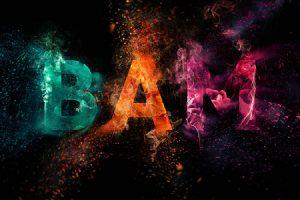 طراحی جلوه متنی انفجار رنگی در فتوشاپ (+ دانلود فیلم آموزش گام به گام)