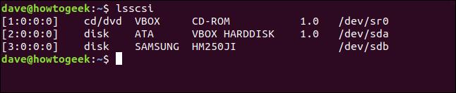 فهرست قطعات رایانه در ترمینال لینوکس