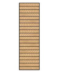 سطح مقطع عرضی یک تیر گلولام