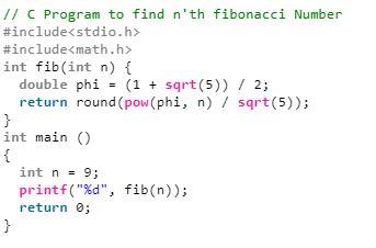 برنامه محاسبه nامین عدد فیبوناچی