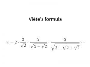 فرمول ویت (Viète's formula) — به زبان ساده
