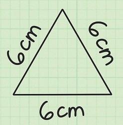 مساحت مثلث متساوی الاضلاع