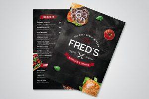 طراحی منوی رستوران فست فود در فتوشاپ — راهنمای گام به گام
