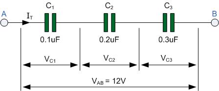 مدار سه خازن موازی