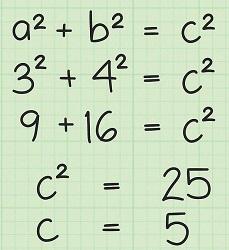 محاسبه فیثاغورس