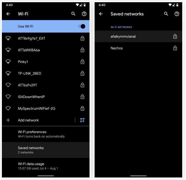 مشاهده رمزهای WiFi