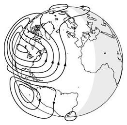 جریان های الکتریکی در لایه یونوسفر