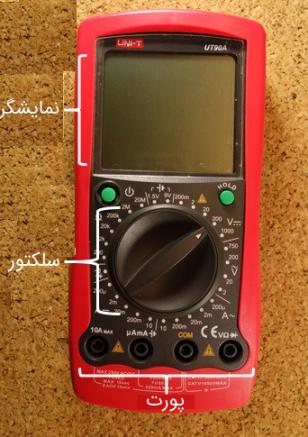 بخشهای مختلف یک مولتیمتر