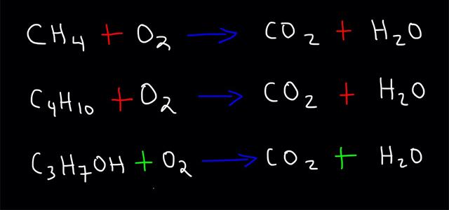 سوختن-هیدروکربنها