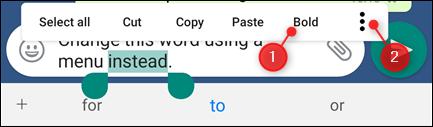 قالب بندی پیام های واتسپ