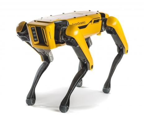 نمونه ای از ربات راه رونده چهار پا