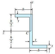 سطح مقطع نامتقارن z شکل با محورهای غیر اصلی مرکزی