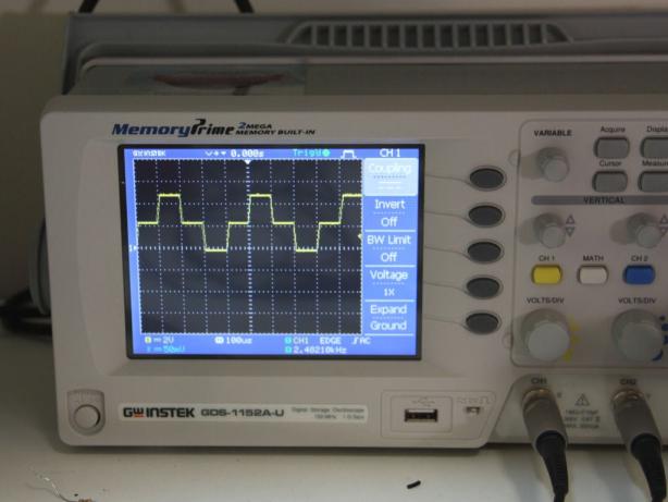 آفست DC به اندازه ۲٫۵V در مد DC coupling