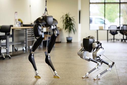 نمونهای از رباتهای راهرونده دو پا