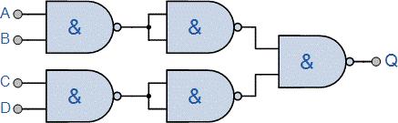 گیت NAND چهار ورودی