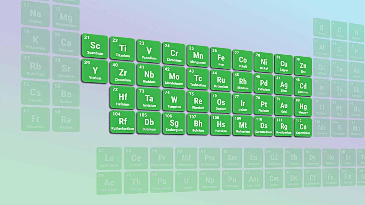 عناصر واسطه — از صفر تا صد