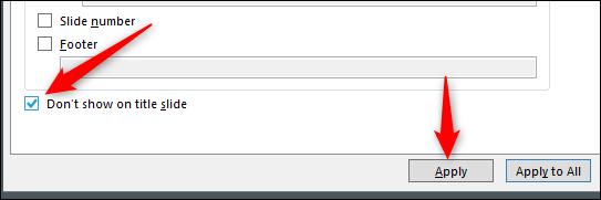 حذف شماره اسلاید