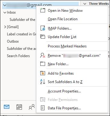 چندین صندوق ایمیل در Outlook