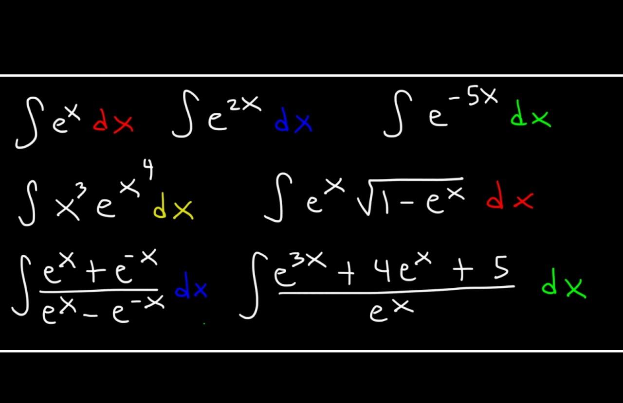 انتگرال توابع نمایی – از صفر تا صد