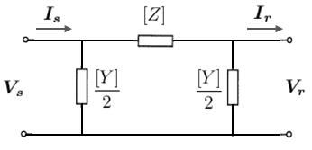 شکل ۳: مدل خط $$\pi$$ نامی با چند هادی