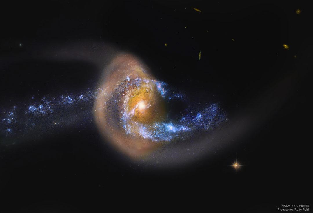 کهکشان مارپیچی ان جی سی ۷۷۱۴