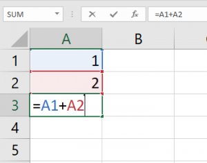 add two numbers in excel