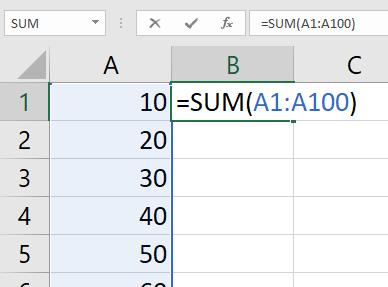 sum function