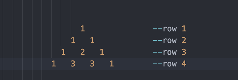 مثلث پاسکال در جاوا اسکریپت