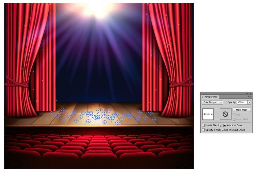 طراحی صحنه نمایش در ایلاستریتور