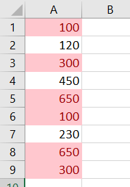 duplicate values results